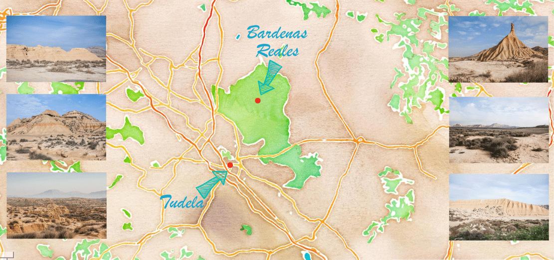 carte desert bardenas reales