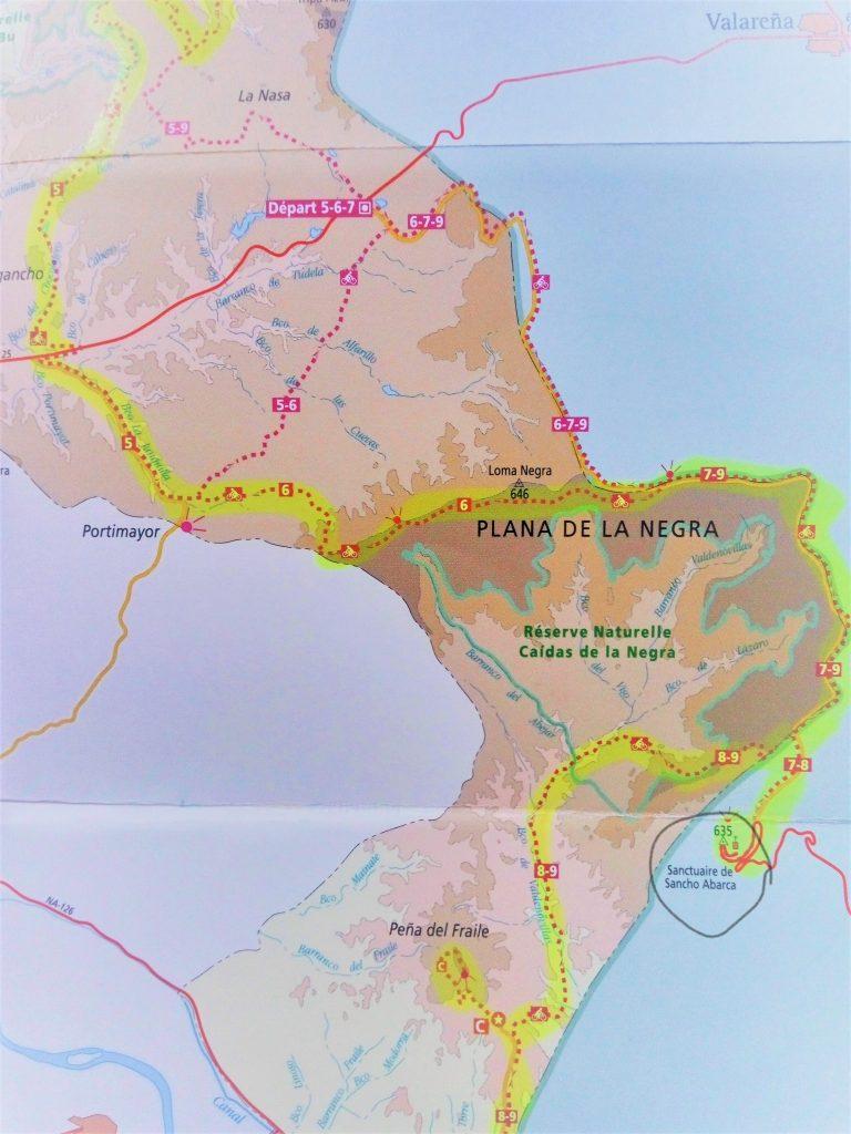 carte désert bardenas