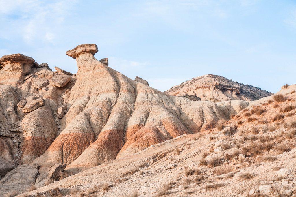 Paysages lunaire desert Bardenas reales