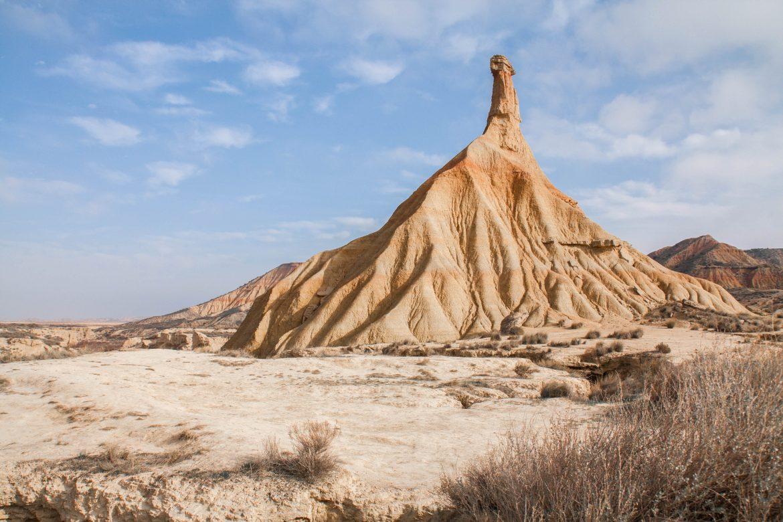 Castil de Tierra- La cheminée Fée Castil -Désert bardenas reales - Bardenas Blanca - Roadtrip