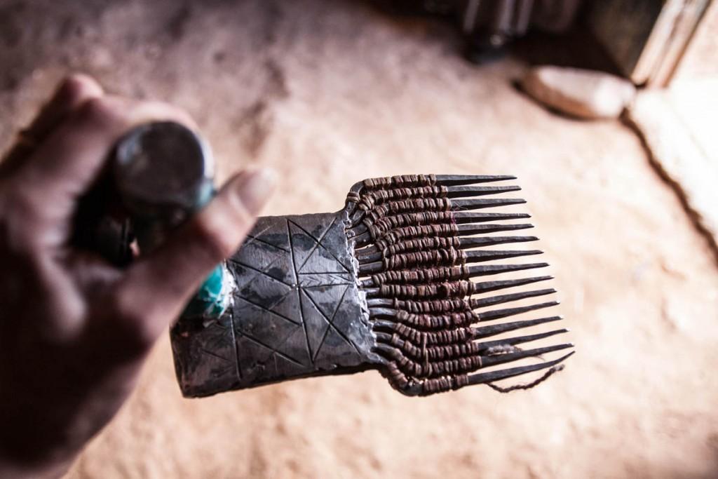 Anzel, village berbère dans l'anti-Atlas, fabrication tapis berbere