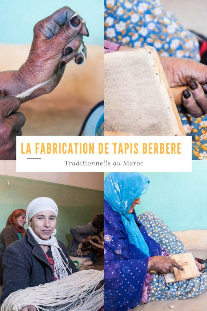 La fabrication des tapis Berbere au Maroc et tout savoir sur le mode de vie d'une famille Berbere.