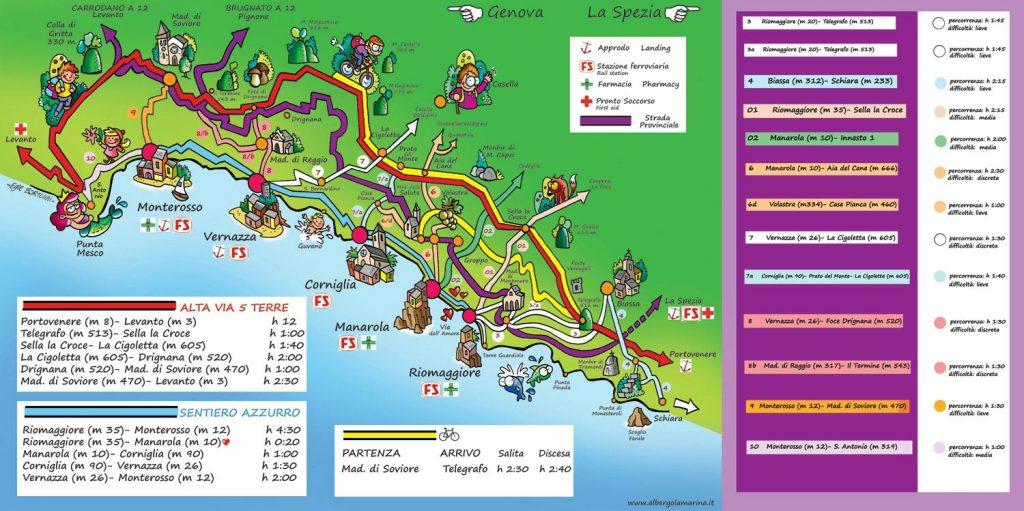 cinque terre carte des villages