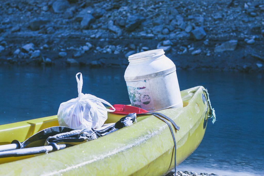 Canoe dans ls gorges du Verdon