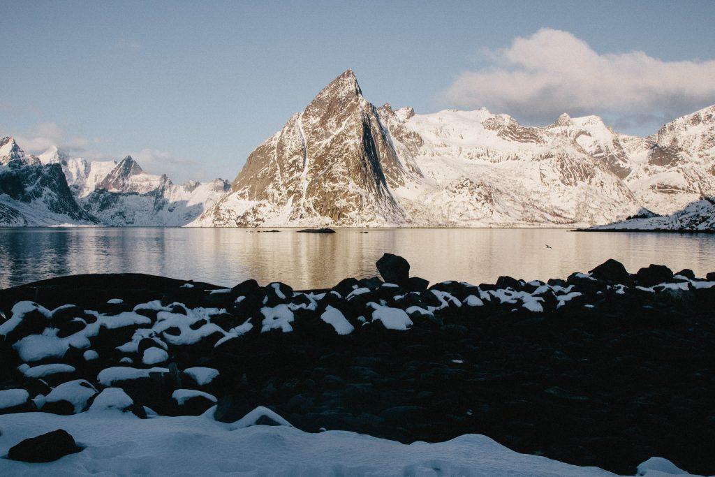 Hamnoy perle des îles Lofoten en Hiver
