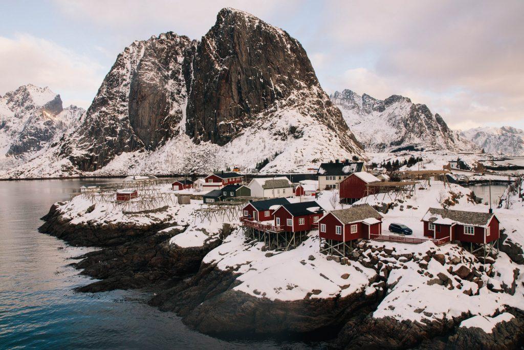 Hamnoy, beauté des îles Lofoten en Hiver
