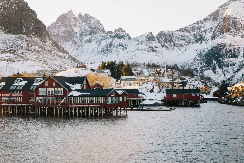 A - îles les Lofoten en Hiver - Norvége du nord