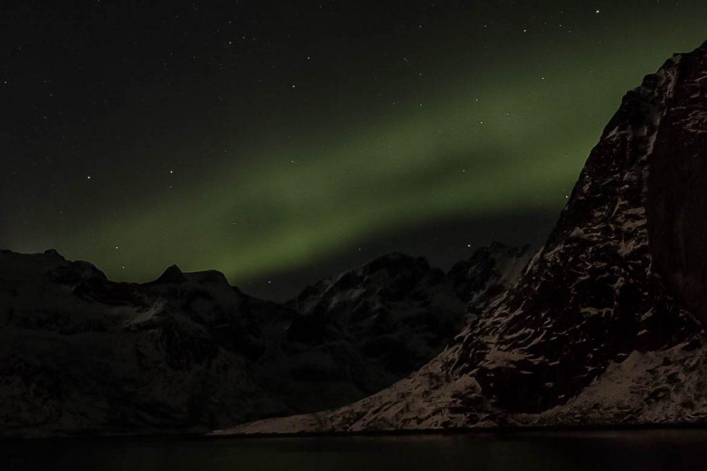 Aurore Boréale îles Lofoten en Hiver à Hamnoy