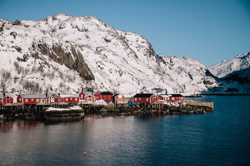 vllage de Nusfjord dans les îles Lofoten