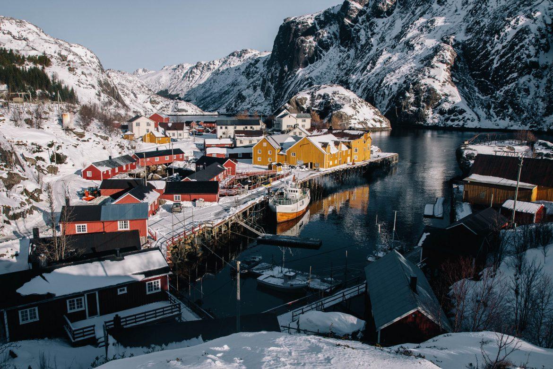 Nusfjord hiver - îles Lofoten