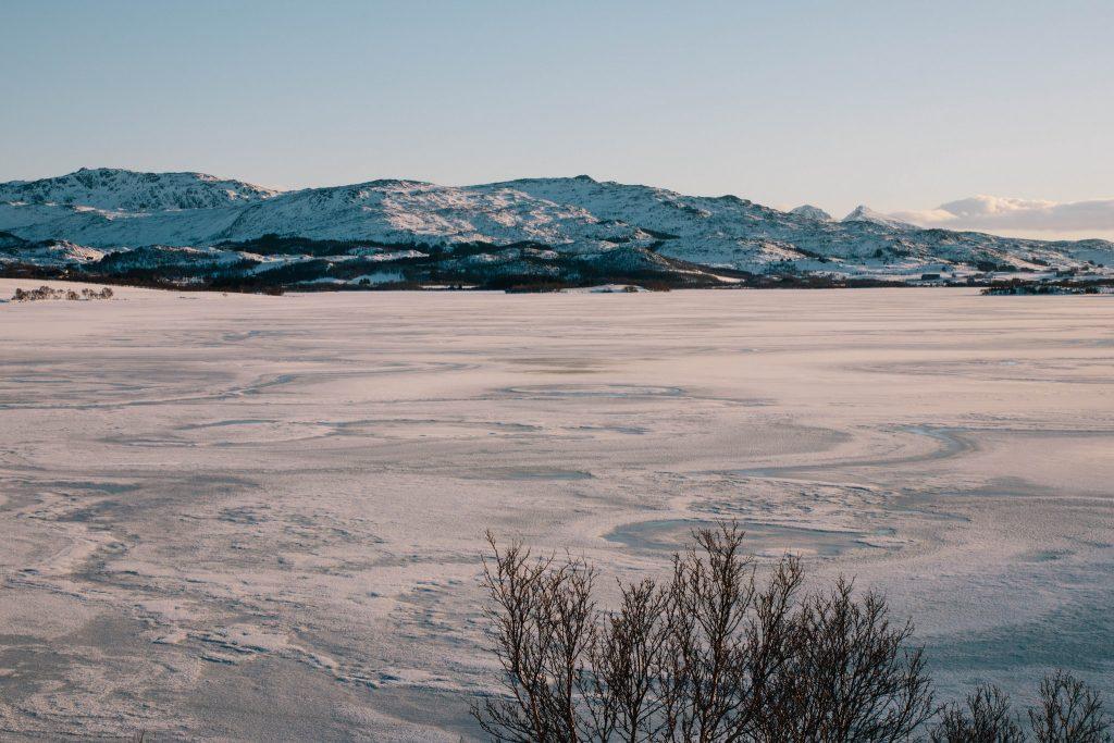 Randonnée raquette îles Lofoten en Hiver