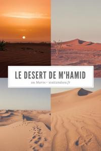 Exploation à pieds et en 4x4 dans le désert de M'hamid au Maroc