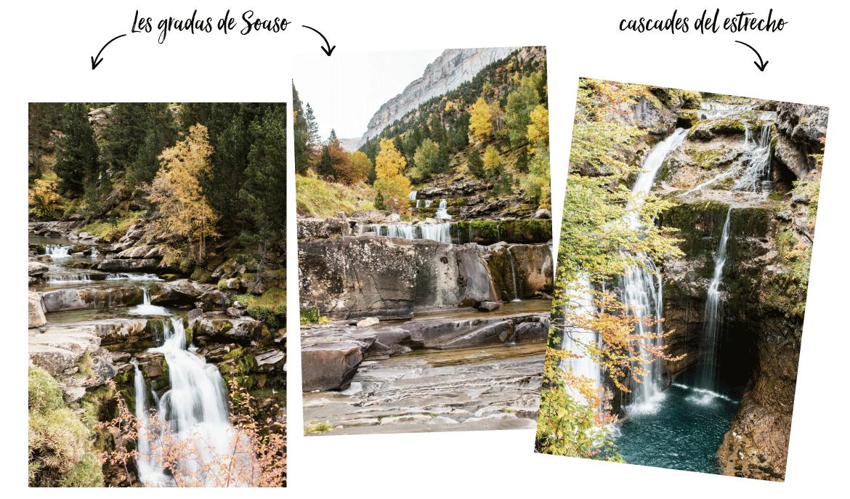 cascades Gradas de soasa duparc national d'Ordesa en espagne