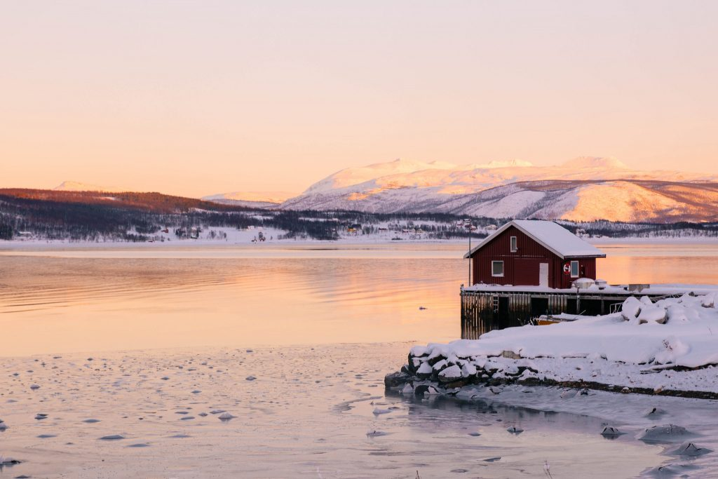 île de Senja Norvège du Nord hiver