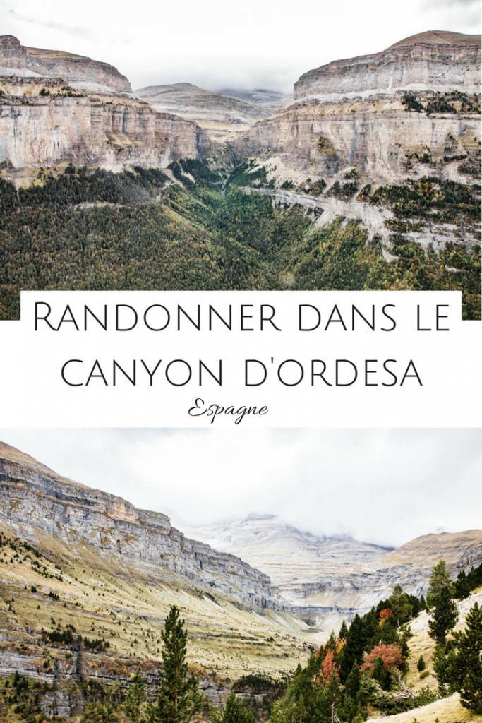 Randonner dans le beau beau Canyon d'Europe : parc national d'Ordesa en espagne