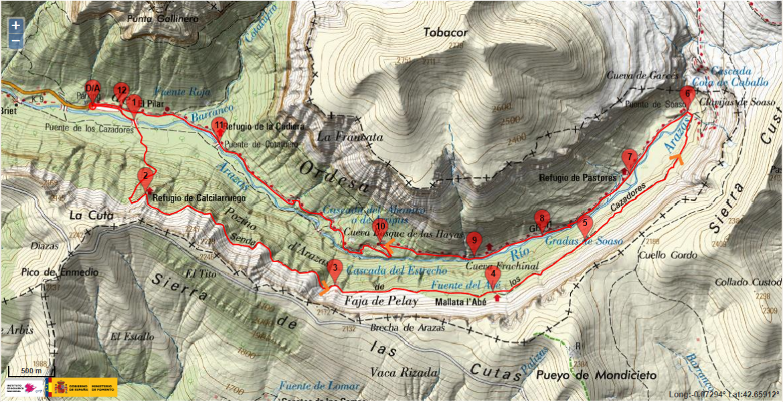 Canyon d'Ordesa en Espagne : randonnee faja Pelay Ordesa