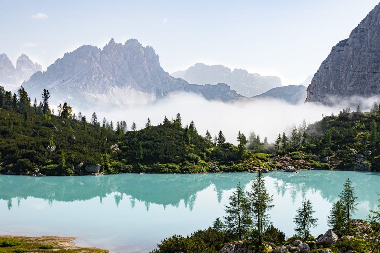 Découvrir les Dolomites en Italie : l lago di Sorapis, le plus beaux lacs des Dolomites