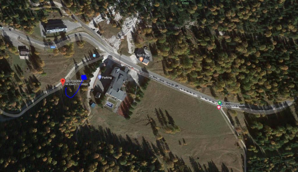 Plan satellite spot van lago di Sorapi