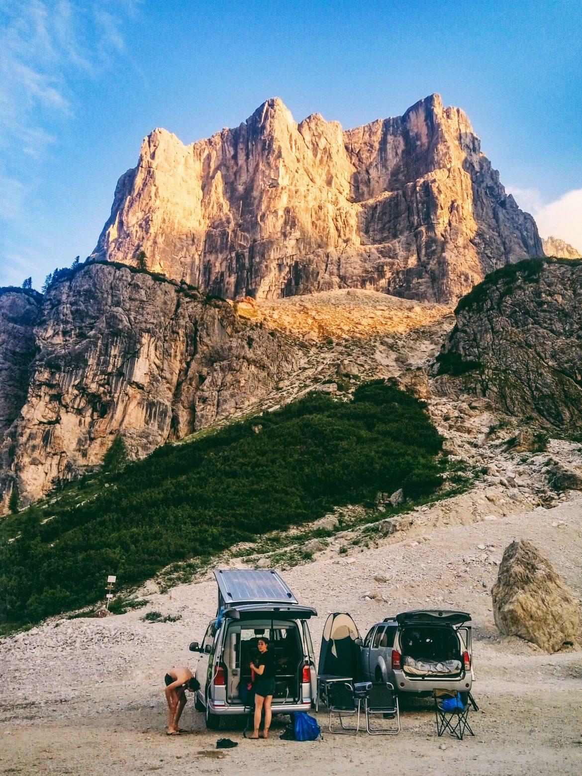 Voyage en van dans les Dolomites