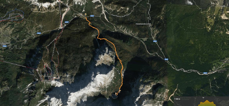Carte randonnée lago di Sorapis
