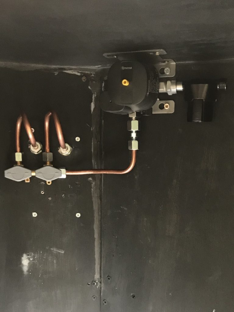 Circuit gaz van aménagé